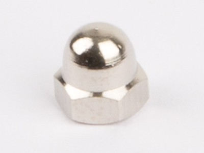 Metal dome nuts, nickel plated, M3