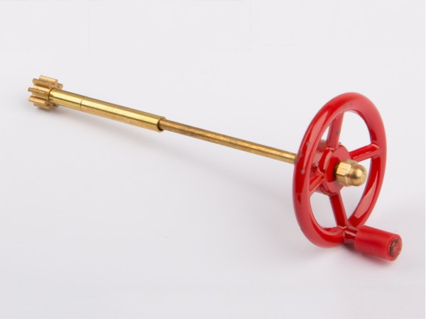 Steering wheel, red with shaft D305