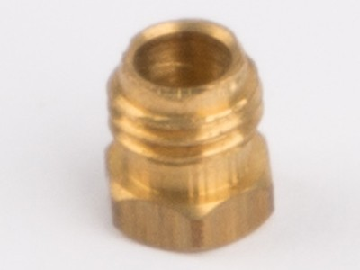 Pipe coupling nut for steam pipe fixing brass M6
