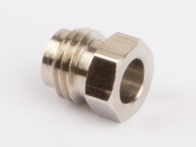 Pipe coupling nut for steam pipe fixing nickel M6